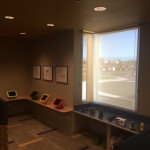 Colorful iPads and other children's toys adorn the new pediatric area.
