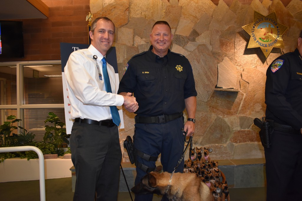 Dr. Holt was there to support the Clovis Police department as they relaunched their K-9 units.