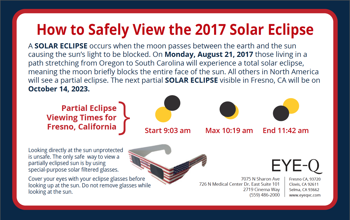 Preparing for the Upcoming Solar Eclipse