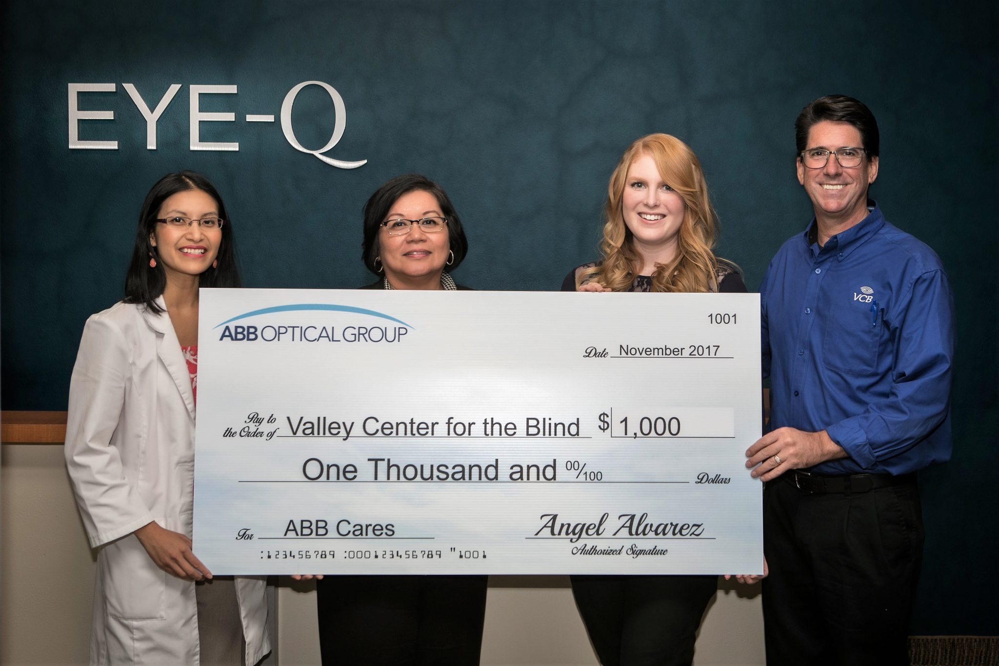 EYE-Q SUPPORTS LOCAL ORGANIZATION